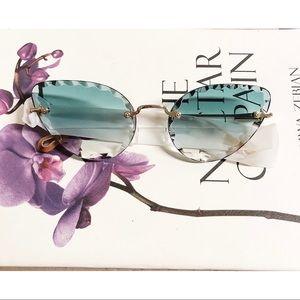 Chloe Rosie 60mm Cat Eye Sunglasses in Turquoise